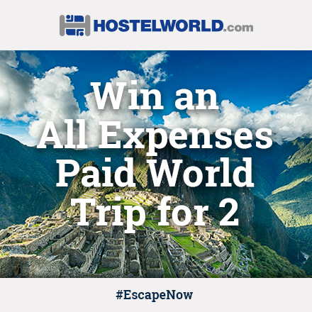 Win 3 travel adventures of your choice from Hostelworld.com
