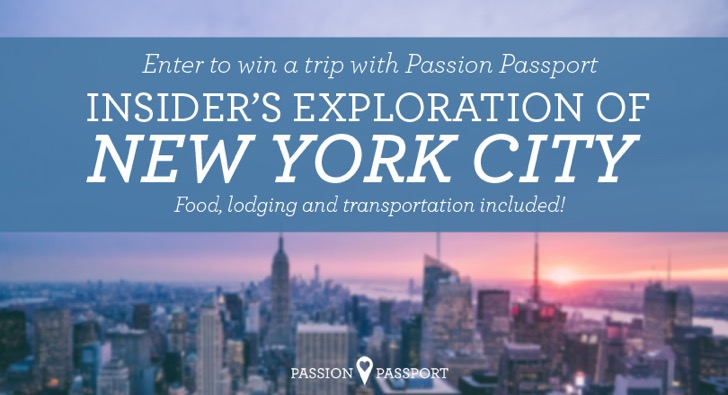 Win a trip to New York with Passion Passport