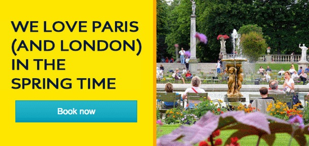 Eurostar Sale: Say bonjour to spring in Paris and London from €48.50
