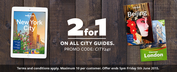 Lonely Planet 2 for 1 on all city guides with promo code