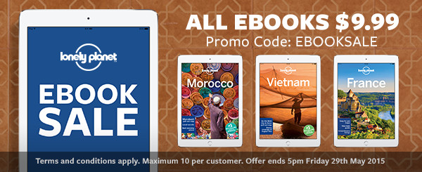 Lonely planet - all ebooks $9.99