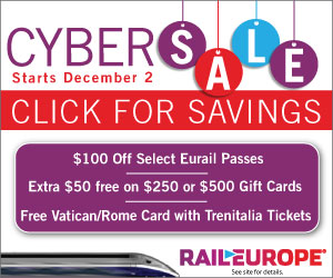 Rail Europe Cyber Monday deals - Save $100 on Eurail Passes