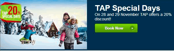 TAP Portugal - 20% off flights with discount code