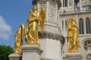 Golden angels at Zagreb Cathedral [Croatia]