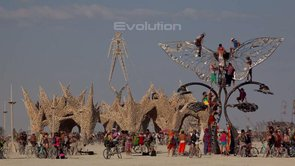 Time lapse at Burning Man