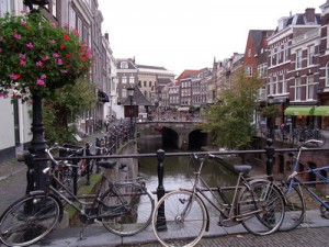 Bicycles and canals, Utrecht [Netherlands]