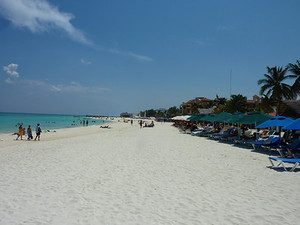 White sand beach – Playa del Carmen [Mexico]