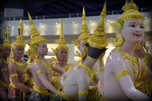 Scene of the churning of the milk ocean – BKK Airport, Bangkok [Thailand]