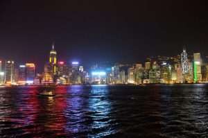 Night skyline, Hong Kong [China]
