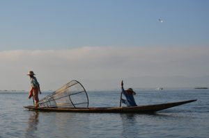 Leg rowing fisherman, Inle Lake [Myanmar]