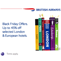 British Airways Black Friday offers: Up to 45% hotel savings and FREE city passes