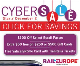 Rail Europe Cyber Monday deals – Save $100 on Eurail Passes