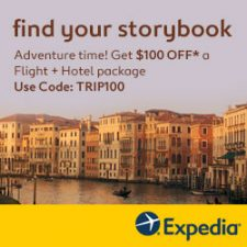 Save $100 on a vacation package with Expedia