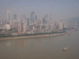 City skyline on the Yangtze River, Chongqing [China]