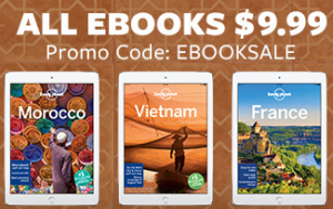 Lonely planet – all ebooks $9.99 with promo code