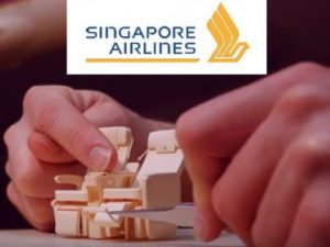 Singapore Airline's largest aircraft in miniature view