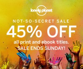 Lonely Planet: 45% off not-so-secret sale