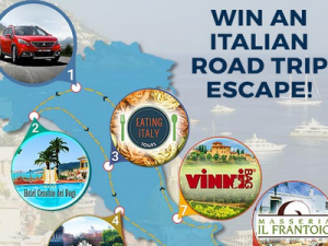 Win a 7 night Italian road trip escape, valued at over $3,200!